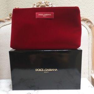 Dolce & Gabbana Red Velvet Clutch